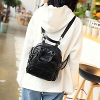 Convertible Faux Leather Small Mini Backpack Rucksack Shoulder bag Purse Cute