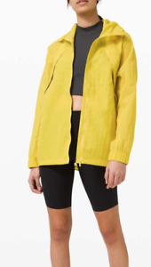 NEW lululemon Women's Clear Intention Jacket Soleil Yellow Size 8 Hooded Top NWT