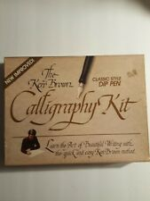 The Ken Brown Calligraphy Kit 3078 Lettering w/ Papers, Ink & Guide