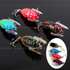New Fishing Tackle Lure Snakehead Bass Killer Insect Cicada Freshwater Bait ST