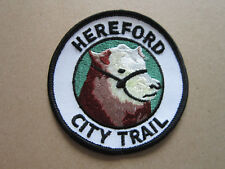 Hereford City Trail Walking Hiking Cloth Patch Badge (L3K)