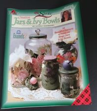 Vintage Plaid Jars & Bowls Painting Designs Hobby Magazine Pattern Stencil Book