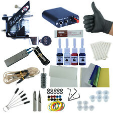 Professional Tattoo Set Kit High-quality Tatoo Machine Guns 4 Inks and Supplies