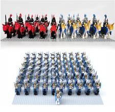 10 Pcs MINI FIGURES Castle Dragon Knights Royal Medieval Kings Horses MOC