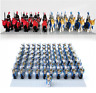 10 Pcs MINIFIGURES Castle Dragon Knights Royal Medieval Kings Horses lego MOC