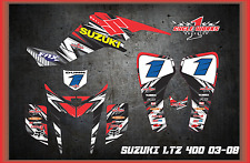 SUZUKI z400 LTZ QUADRACER  KFX400 SEMI CUSTOM GRAPHICS KIT BIPOLAR Detoz2