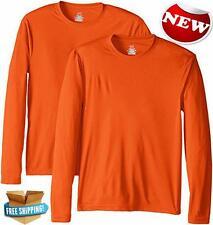 Hanes Mens Long Sleeve Cool Dri T Shirt UPF 50 Outdoor causal Beach Wear sports