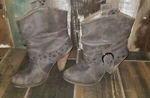 Women's Not Rated Taupe Boots Size 7