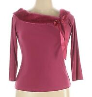 JTB Cute Pink Pullover Top Shirt Front Tie Bow Size X large