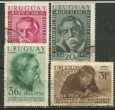 URUGUAY Scott# C169-172 (0) usada 1956