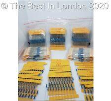 Resistors Metal Film 300 Pack, 10 each 30 values 1/4w 1% Assortment Resistors