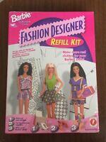 Barbie Fashion Designer Refill Kit Software for Girls NIB 17769 New Make Clothes
