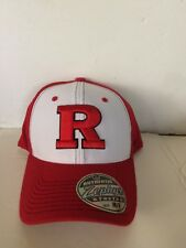 a798a663fb3 Rutger Scarlet Knights Zephyr Bleacher Stretch fit hat M L Red White