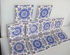 Vintage Ceramic Tile Blue & White Leaf Nouveau Old Antique Georgian STYLE Tiles