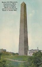 Antique POSTCARD c1907-20 Bunker Hill Monument CHARLESTOWN, MA BOSTON 18046