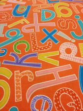 100% cotton quilting craft fabric MODA abc Menagerie Orange Green Blue