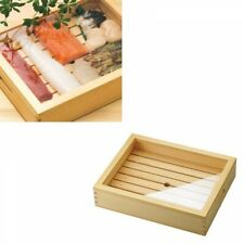 Yamako Wooden Sushi Topping Container Small with Tray Acrylic Lid FastShip Japan