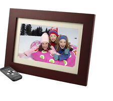 "Insignia 10"" Digital Photo Frame - Espresso Wood Finish NS-DPF10WW-16 In Box UD"