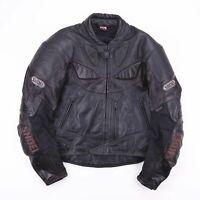 Vintage SHOEI SPORTS PERFORMANCE Black Racing Leather Jacket Mens Size Medium