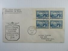"""1949 Canada cacheted FFC #AAMC 4903a Vancouver - Fiji #C9a CDS """"Nadi Airport"""" VF"""