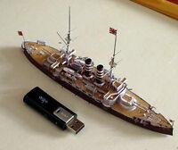 1:400 Scale Japanese Pre-dreadnout Battleship Mikasa Handcraft Paper Model Kit