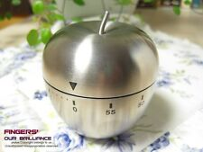 Stainless Steel Kitchen Cooking Countdown 60-Minute Mechanical Alarm Apple Timer