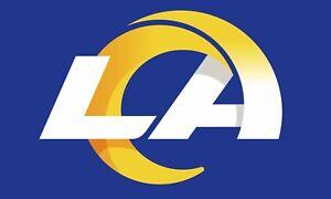 LOS ANGELES RAMS BLUE/YELLOW FLAG 3'X5' NFL LOGO BANNER: FREE SHIPPING ! LA RAMS