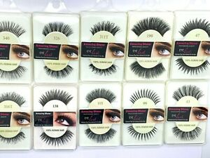 100% Human Hair False Eyelashes Fashion/Glamour/Natural Lashes/Adhesive UkSeller