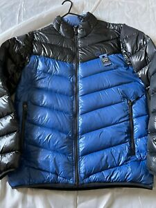 Men's Nike Down Jacket - Black/Blue - Size L - 047