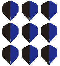 Ruthless Trans Blue/Black R4X Standard Micron Dart Flights -3 sets (9 flights)