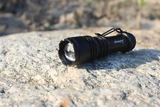 SKYWOLFEYE 800LM LED Light 3 Modes Flash Water resistant Torch Lamp w/ zoom
