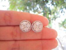 7.00 Carat Face Illusion Diamond White Gold Earrings 18K sepvergara