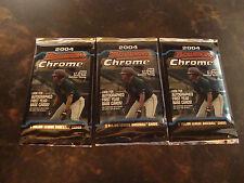 2004 Bowman Chrome Baseball---Retail Packs---Lot Of 3---3 Cards/Pack