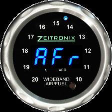 Zeitronix Wideband Zt-3 + ZR-1 AFR & Lambda Gauge Display Bundle (BLUE / Silver)