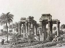 Haute Egypte Antaeopolis Kau-Il-Kubara Gaou-El-Kébir temple dieu Antée XIX ème
