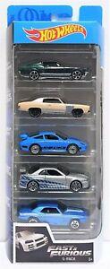 Hot Wheels 5 pack Fast & Furious Mustang Nissan Porsche Nissan Skyline Diecast