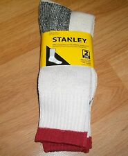 MEN'S CUSHIONED COTTON THERMAL WORK SOCKS ( 2-Pr.,Size 10-13)