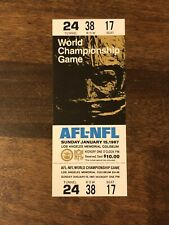 1967 Super Bowl I Full Ticket. Weldon Williams And Lick Proof