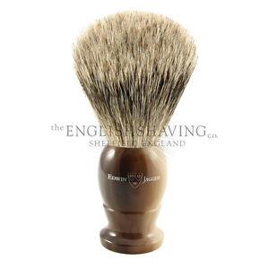 Edwin Jagger Horn Shaving Brush (Best Badger; Size: MEDIUM) [BOXED, NEW]