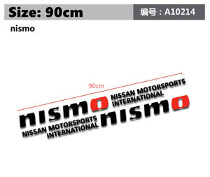 1Pair 90cm Nismo Motorsports Racing Decals Car Body Side Black Graphic Stickers