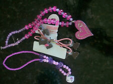 HELLO KITTY & HEART BEAD NECKLACES PINK PURPLE +  Gymboree 2 Scottie Scotty Dog