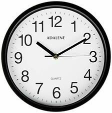 Adalene Wall Clocks Battery Operated Non Ticking - 10 Inch Completely Silent