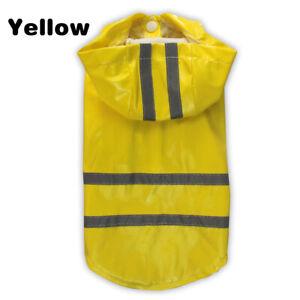 Pet Hooded Waterproof Raincoat Reflective PU Rain Coat For Dogs Cats Puppy Coat