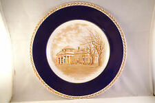 Vintage Monticello Jefferson Cabinet Plate Made in England Charlottesville VA