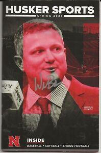 Will Bolt Auto Signed Nebraska Cornhuskers Baseball Magazine 2021 Big Ten Champs