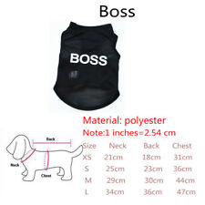 Summer Fashion Pet Puppy Small Dogs Cat Clothes Dress Vest T Shirt Apparel Cloth Boss S