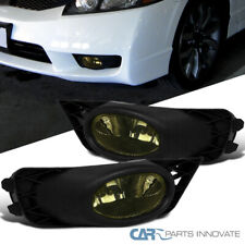 Fit 09-11 Honda Civic 4Dr Sedan Smoke Fog Lights Tinted Driving Lamps+Switch