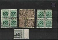 weimar republic used stamps ref 12255