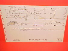 1951 1952 BUICK SPECIAL 40 CONVERTIBLE RIVIERA COUPE SEDAN FRAME DIMENSION CHART