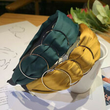 Women's Fashion Side Silver Circle Headband Hair Band Hoops Hair Accessories
